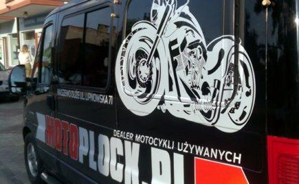 Oklejanie samochodu dla Motoplock.pl